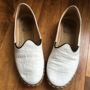 Rafiks White Turkish Leather Slippers